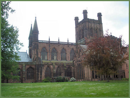 Chester Cathedral (once an abbey)