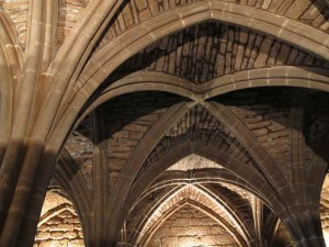 Rib vaulting chester cathedral undercroft